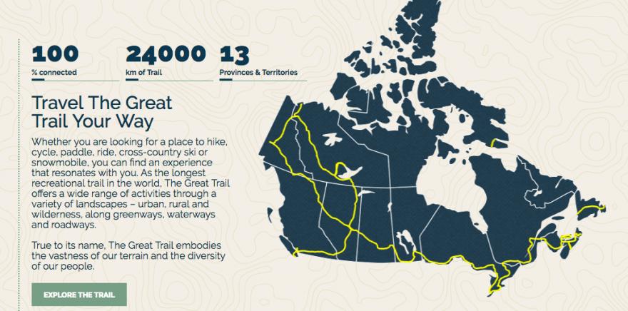 Đường đi dạo dài nhất thế giới vừa mới hoàn thành ở Canada